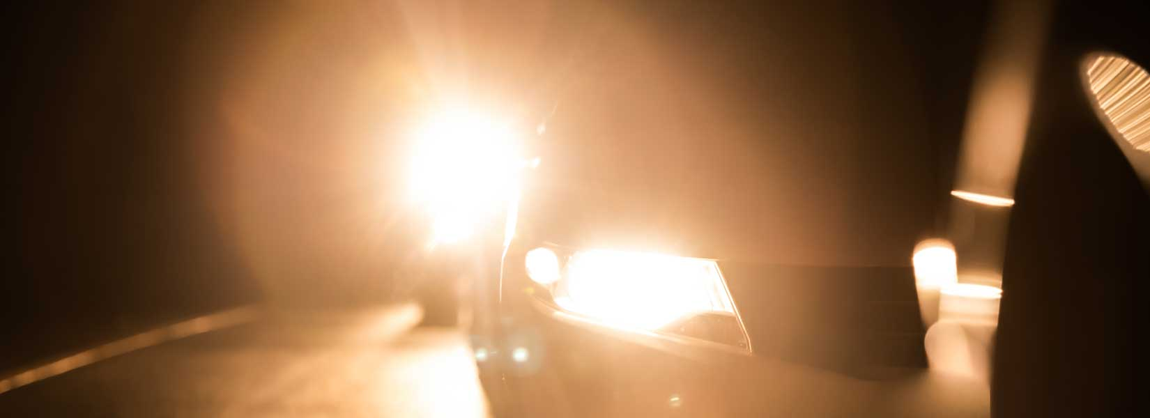 Image showing a car using high beam